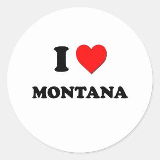 I corazón Montana Pegatina Redonda