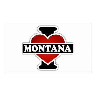 I corazón Montana Tarjetas De Visita