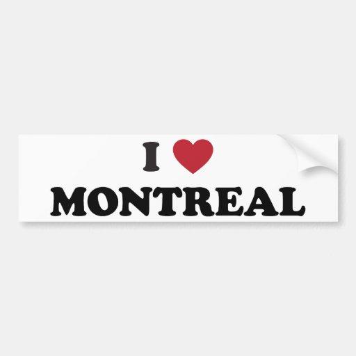 I corazón Montreal Canadá Pegatina De Parachoque