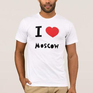 I corazón Moscú Playera