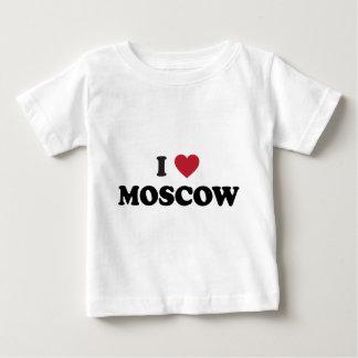 I corazón Moscú Rusia Playera De Bebé