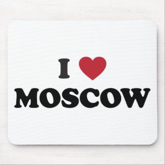 I corazón Moscú Rusia Tapetes De Raton