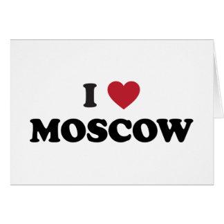 I corazón Moscú Rusia Felicitación