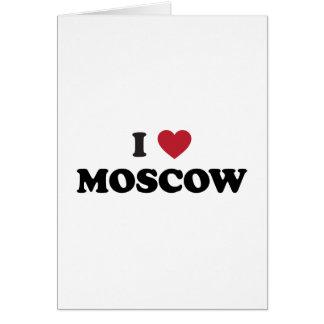 I corazón Moscú Rusia Tarjeta De Felicitación