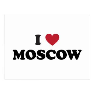 I corazón Moscú Rusia Tarjeta Postal