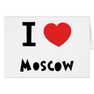 I corazón Moscú Felicitación