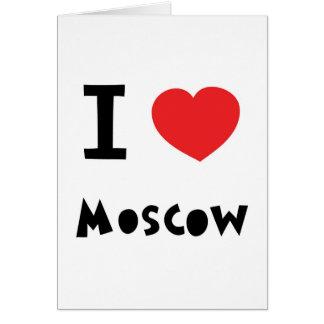 I corazón Moscú Tarjeta De Felicitación