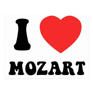 I corazón Mozart Tarjeta Postal