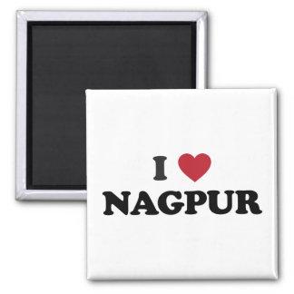 I corazón Nagpurla India Imán Cuadrado