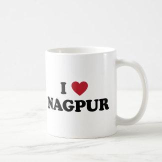 I corazón Nagpurla India Taza Básica Blanca