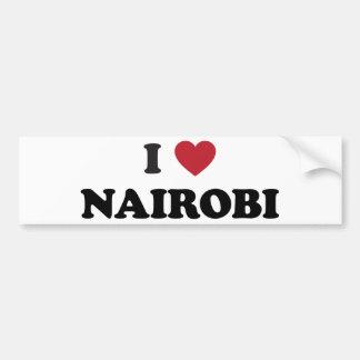 I corazón Nairobi Kenia Etiqueta De Parachoque
