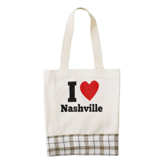 I corazón Nashville Bolsa Tote Zazzle HEART