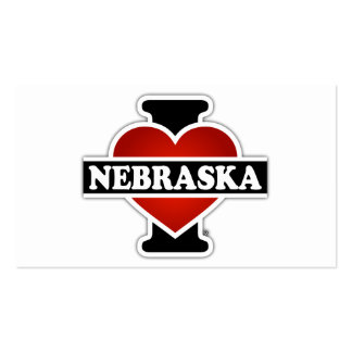 I corazón Nebraska Tarjetas De Visita