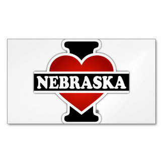 I corazón Nebraska Tarjetas De Visita Magnéticas (paquete De 25)