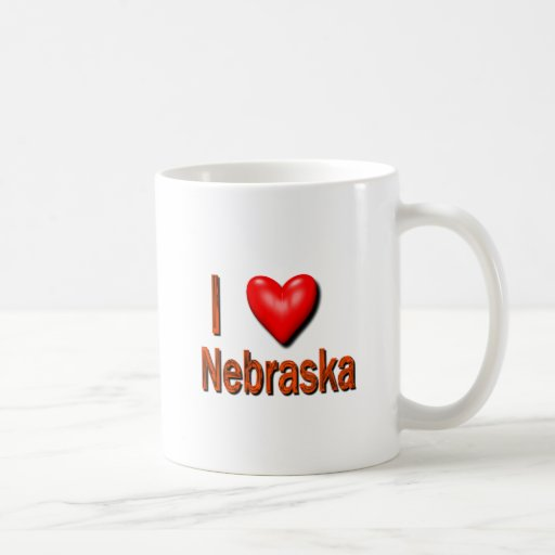 I corazón Nebraska Taza De Café