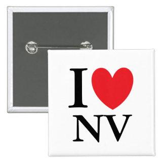 I corazón Nevada Pin Cuadrado