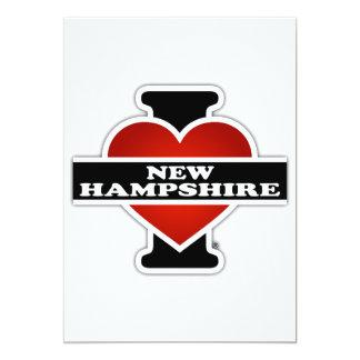 """I corazón New Hampshire Invitación 5"""" X 7"""""""
