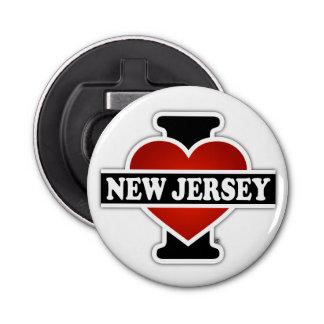 I corazón New Jersey Abrebotellas Redondo