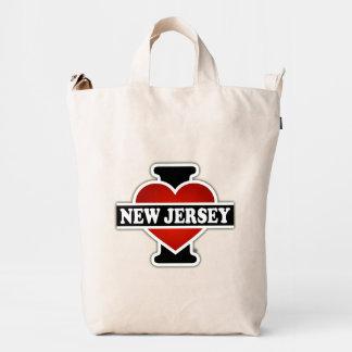 I corazón New Jersey Bolsa De Lona Duck