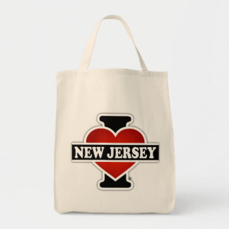 I corazón New Jersey Bolsa Tela Para La Compra