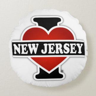 I corazón New Jersey Cojín Redondo
