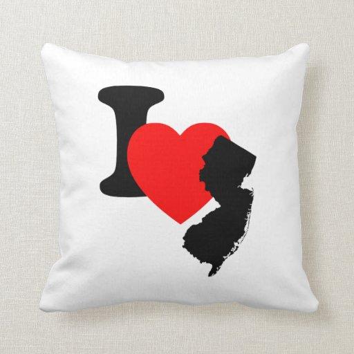 I corazón New Jersey Cojines
