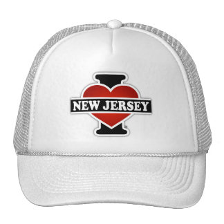 I corazón New Jersey Gorras