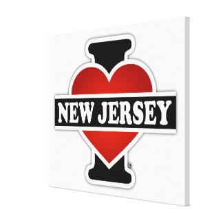 I corazón New Jersey Impresión En Tela