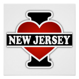I corazón New Jersey Perfect Poster
