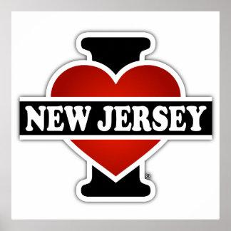 I corazón New Jersey Póster