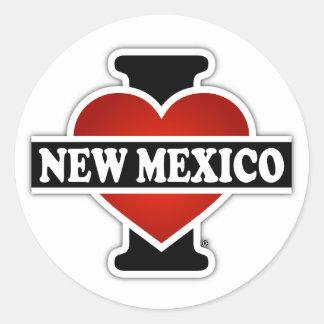 I corazón New México Pegatina Redonda