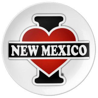 I corazón New México Platos De Cerámica