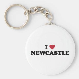 I corazón Newcastle Inglaterra Llavero Redondo Tipo Pin