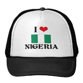 I CORAZÓN NIGERIA GORRAS DE CAMIONERO