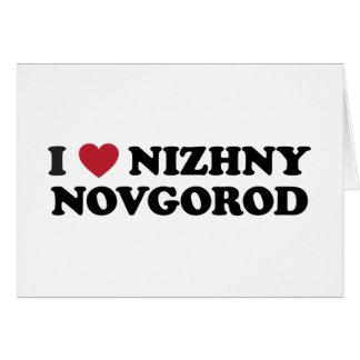 I corazón Nizhny Novgorod Rusia Tarjeta De Felicitación