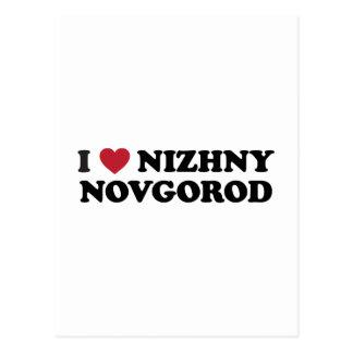 I corazón Nizhny Novgorod Rusia Tarjeta Postal