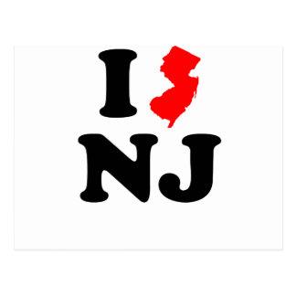 I corazón NJ Tarjeta Postal