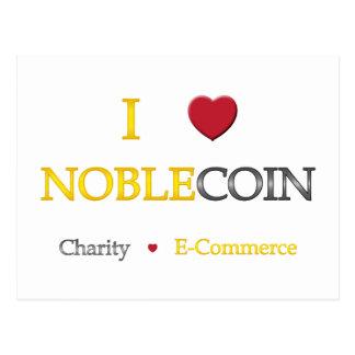 I corazón Noblecoin - comercio electrónico de la c Postales