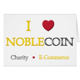 I corazón Noblecoin - comercio electrónico de la c Tarjeta Pequeña