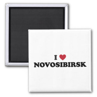 I corazón Novosibirsk Rusia Imán Cuadrado