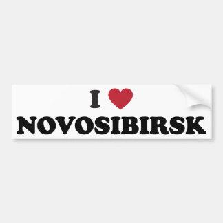 I corazón Novosibirsk Rusia Pegatina Para Auto