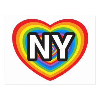I corazón Nueva York Amo Nueva York Arco iris de Tarjetas Postales