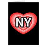 I corazón Nueva York. Amo Nueva York. I corazón Tarjeta De Felicitación