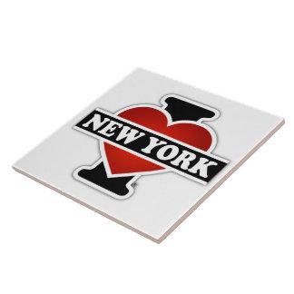 I corazón Nueva York Azulejo Cuadrado Grande