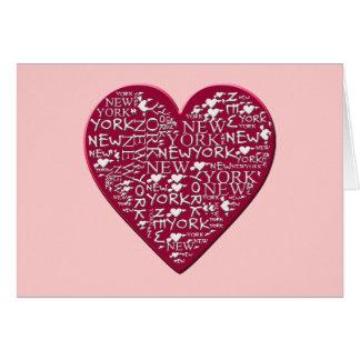 I corazón Nueva York para ayudar al alivio de Tarjeta De Felicitación