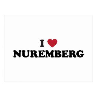 I corazón Nuremberg Alemania Postales