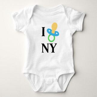 I corazón NY - pacificador del bebé Playera