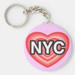 I corazón NYC. Amo NYC. New York City. I corazón N Llaveros