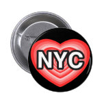 I corazón NYC. Amo NYC. New York City. I corazón N Pin