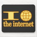 I corazón (o globo) el Internet Alfombrilla De Raton